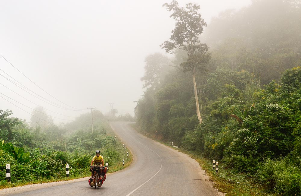 Biking tour around Luangprabang